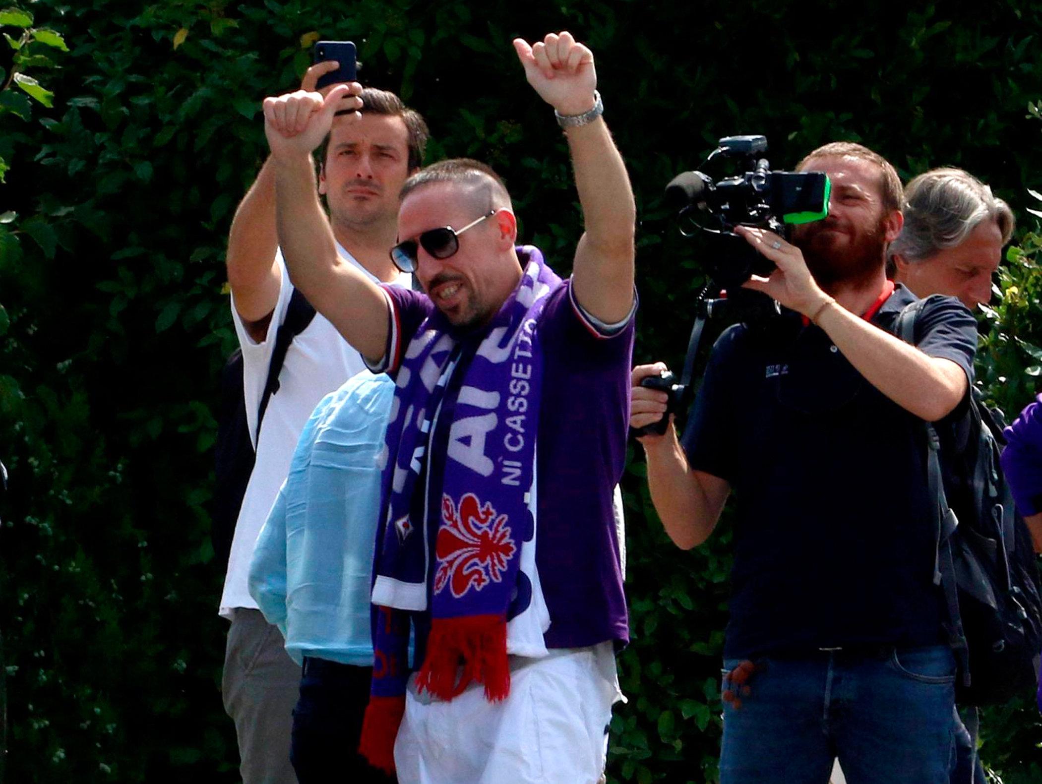 Franck Ribéry spielt ab sofort beim AC Florenz in der Serie A.