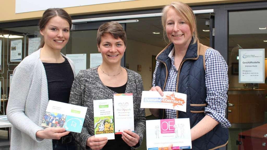 Ein Trio, das bewegt: Mareike Appel, Victoria Becker und Inga Marbach von der Sportregion Delmenhorst/Oldenburger Land (von links). Foto: Franitza