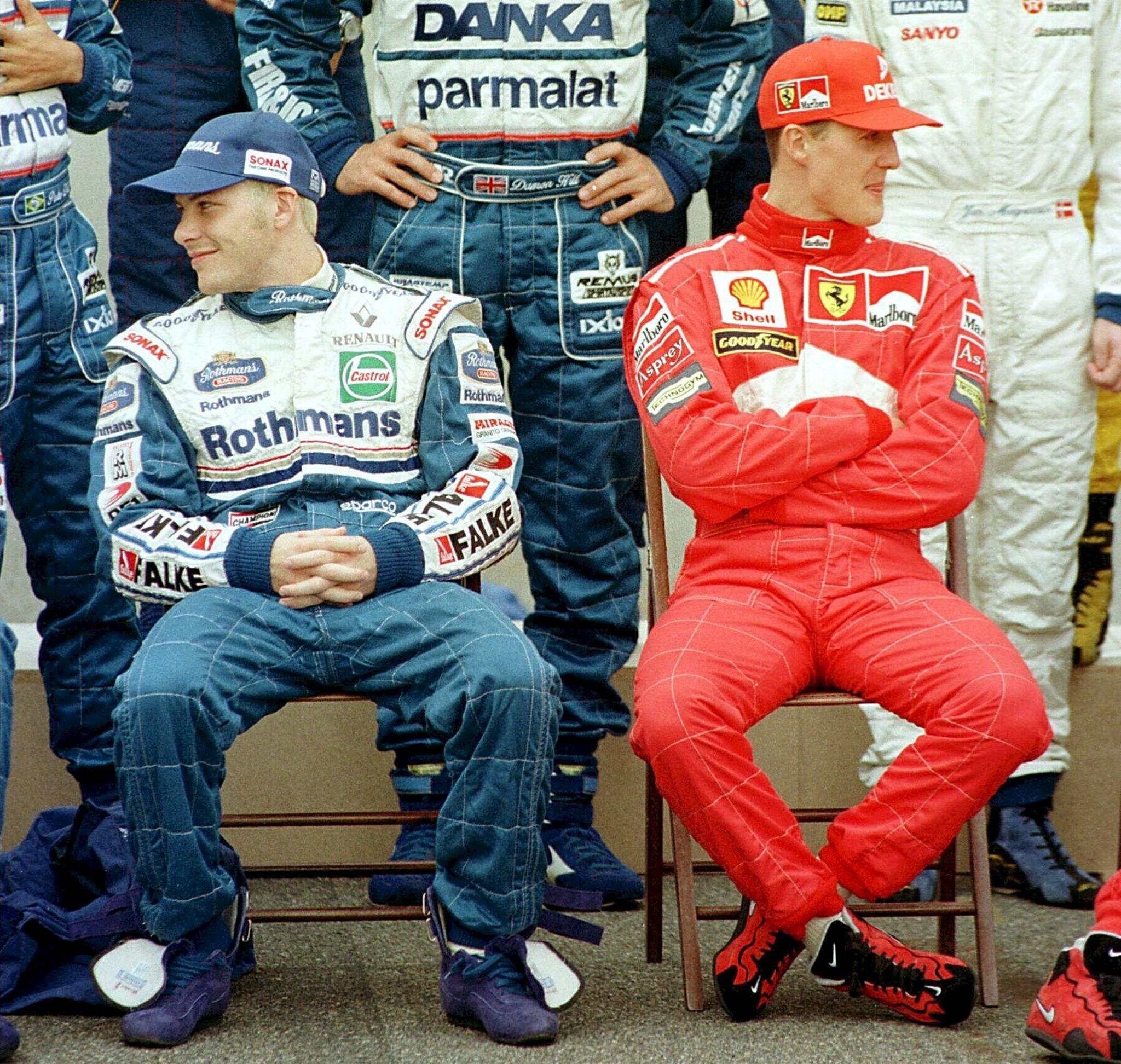 Jacques Villeneuve (links) und Michael Schumacher (rechts).