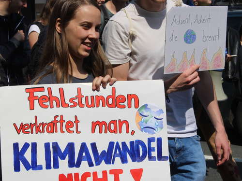 """Fridays for Future""-Demo in Nienburg"