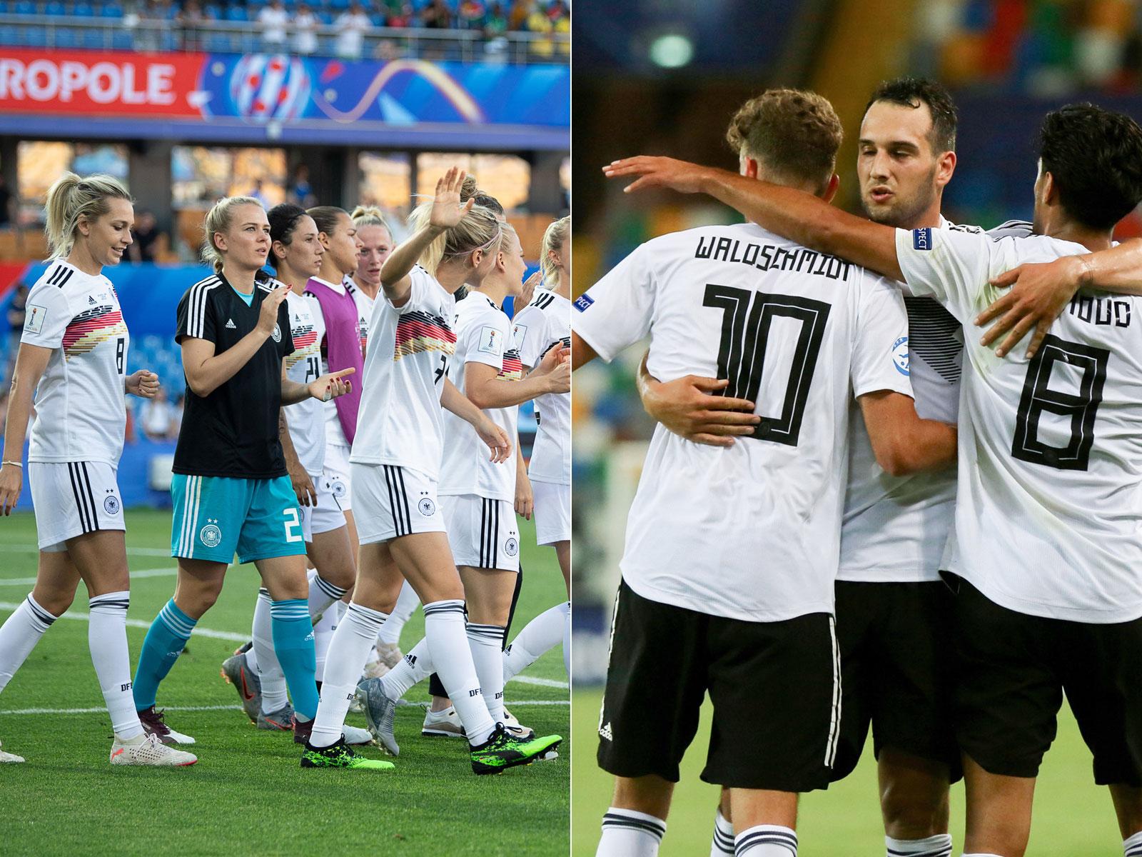 Die Frauen-Nationalmannschaft und die U21 haben beide am selben Tag gespielt.