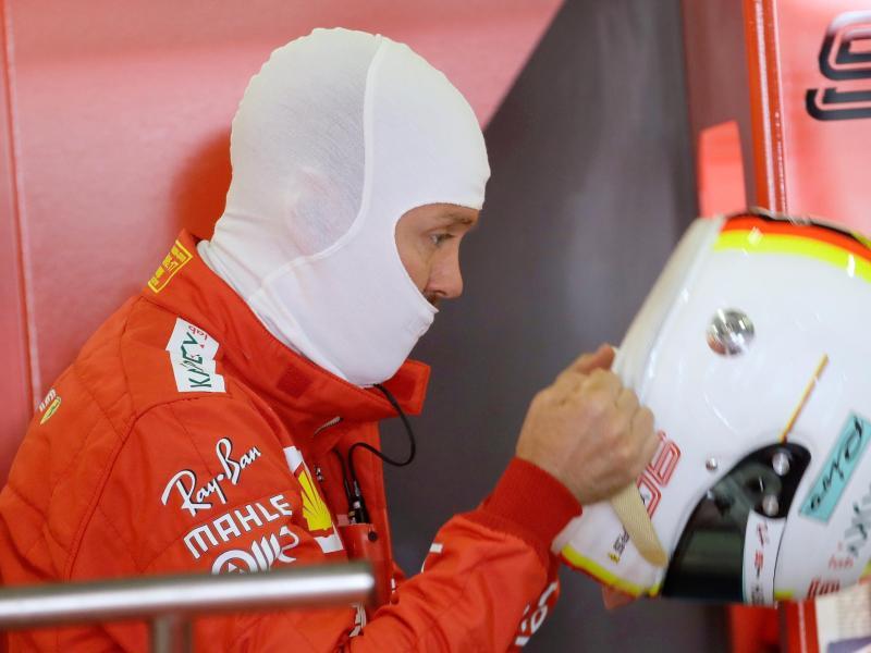 Musste sich beim erstenSilverstone-Training mit Platz sechs zufrieden geben: Ferrari-Pilot Sebastian Vettel. Foto: Luca Bruno/AP