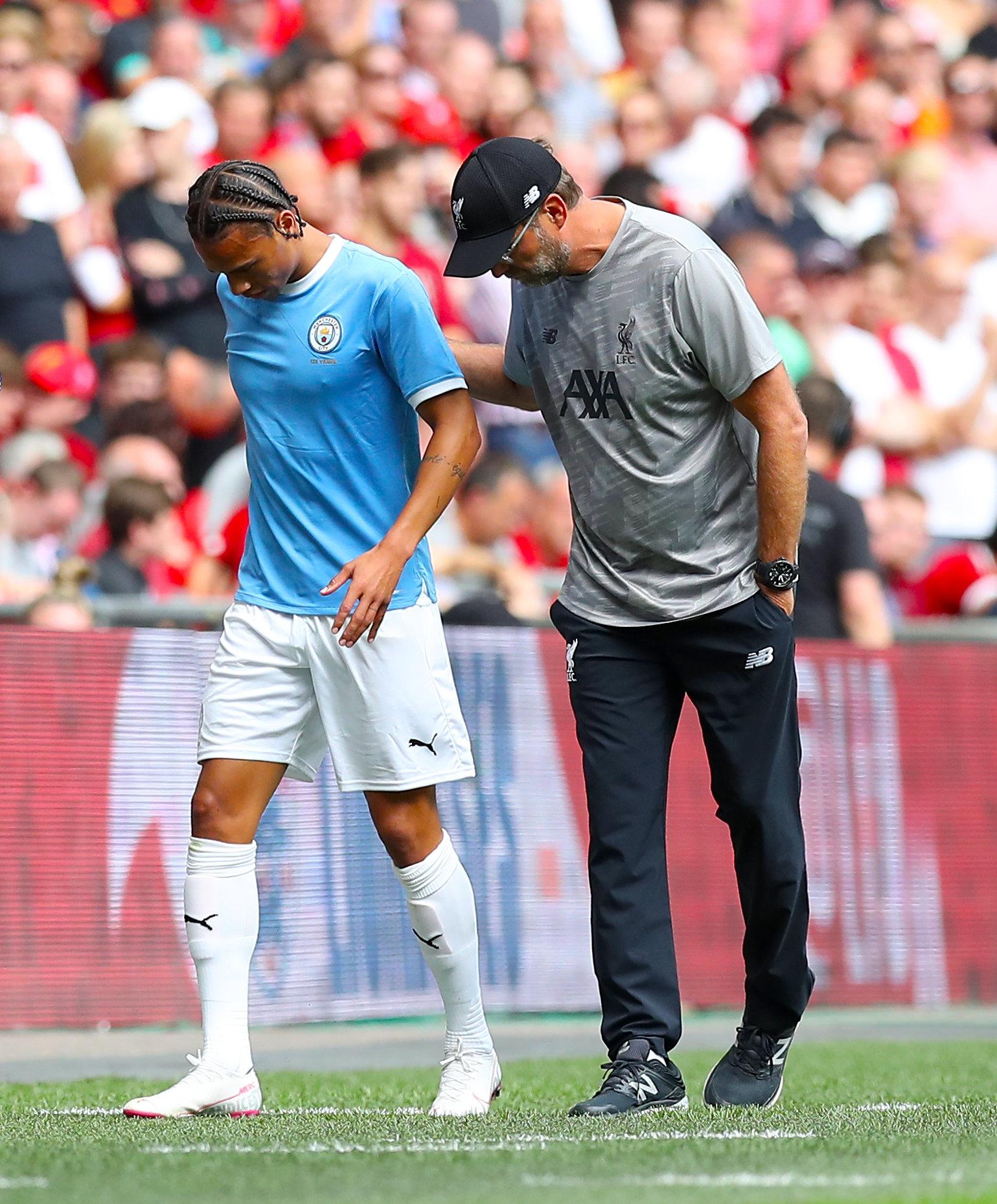 Auch Jürgen Klopp erkundigte sich nach der Verletzung Leroy Sanés um das Befinden des Nationalspielers. Wechselt er zum FC Bayern München?