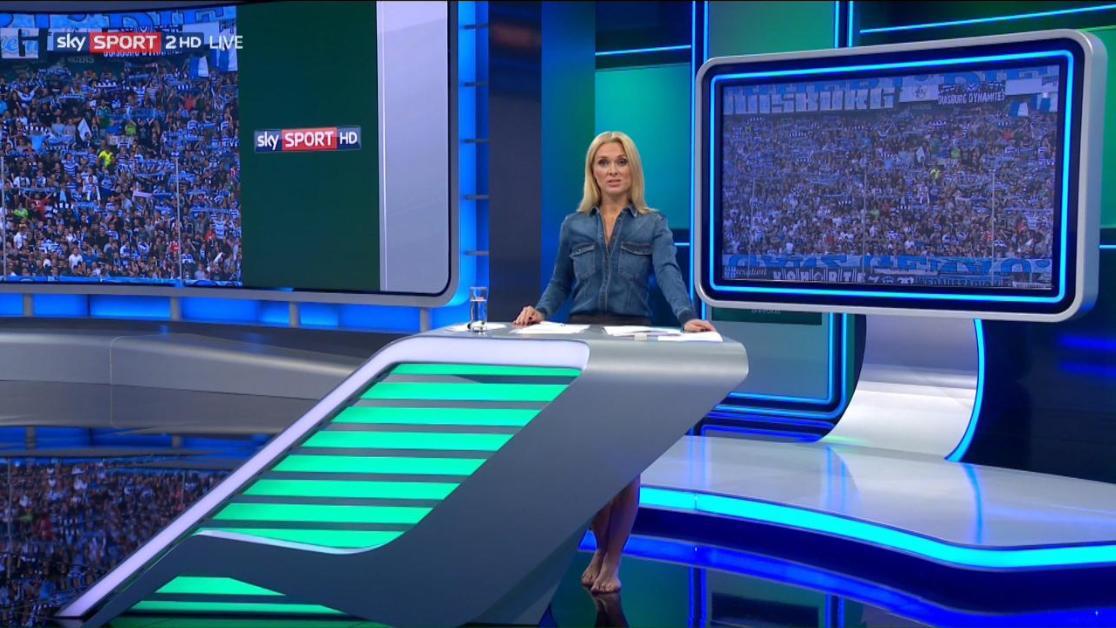 Britta Hofmann mit einem Fauxpas im Fernsehen.