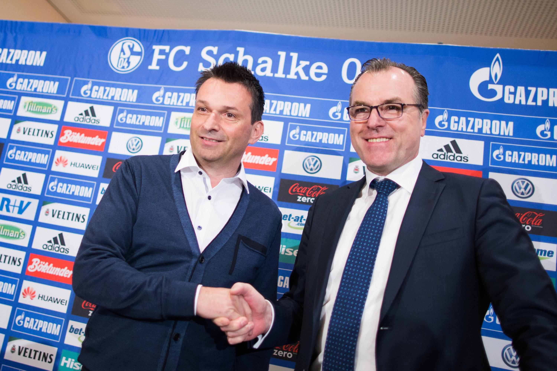 Clemens Tönnies und Christian Heidel verbindet offenbar noch eine gute Freundschaft.