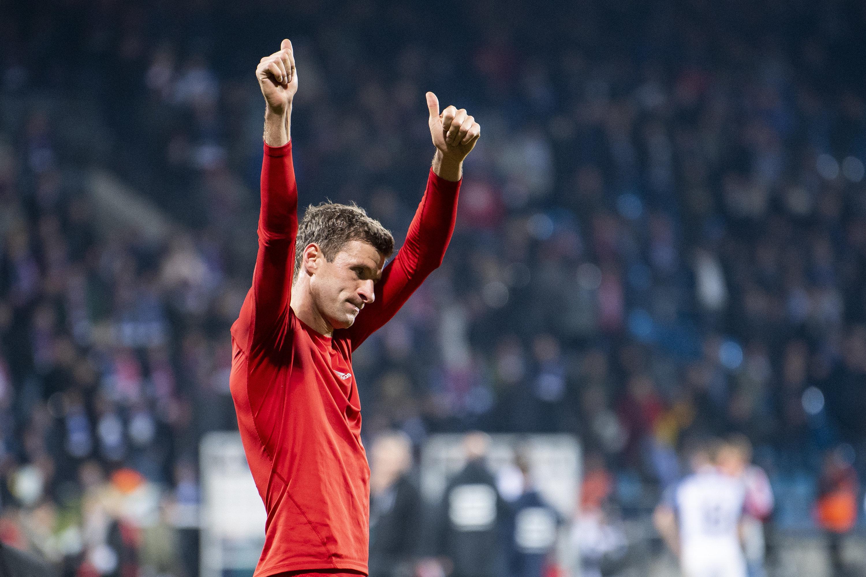 Der FC Bayern konnte gegen Bochum in Person von Thomas Müller erst spät jubeln.