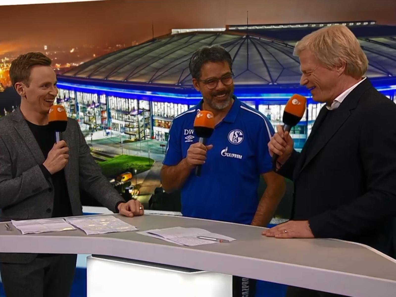 Jochen Breyer (v. l.), David Wagner und Oliver Kahn.