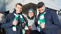 Fotostrecke: Werder-Fan-Support in Düsseldorf