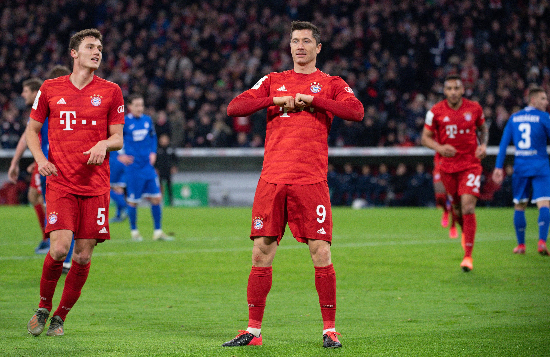 Auf ihn ist Verlass: Robert Lewandowski steuerte beim Sieg des FC Bayern über die TSG zwei Tore bei.
