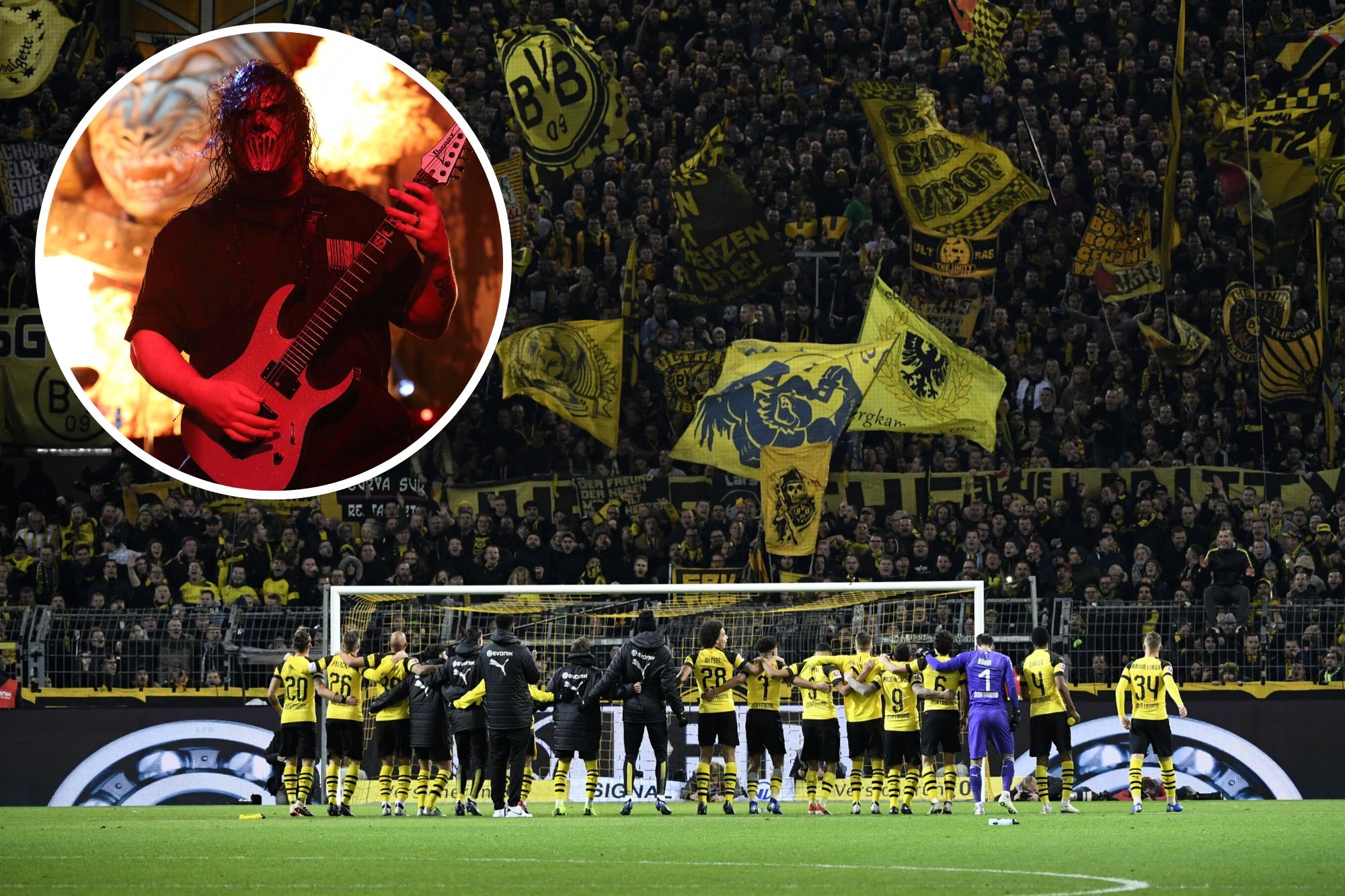 Währen der BVB gegen Paris antritt, spielt am Dienstag parallel Slipknot ein Konzert in den Westfalenhallen.
