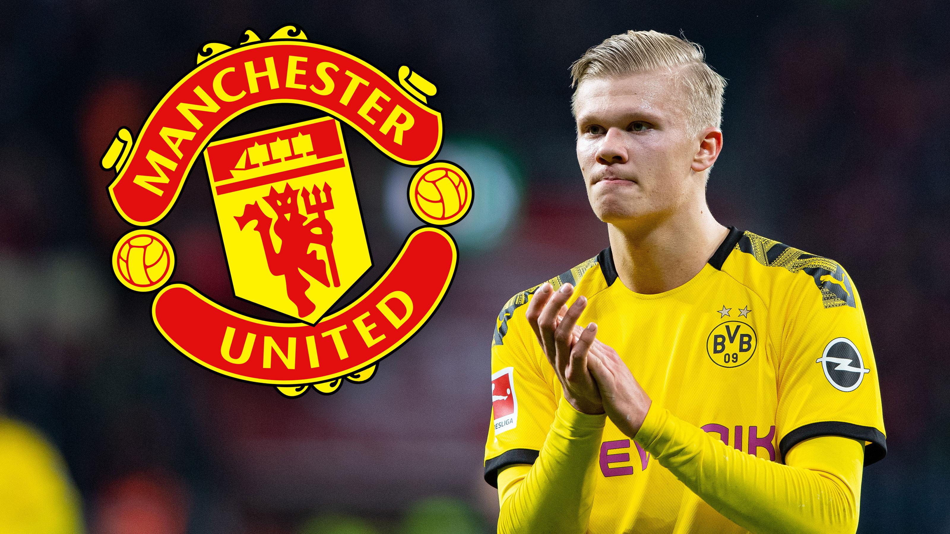 Erling Haaland mit einem Signal Richtung Manchester United.