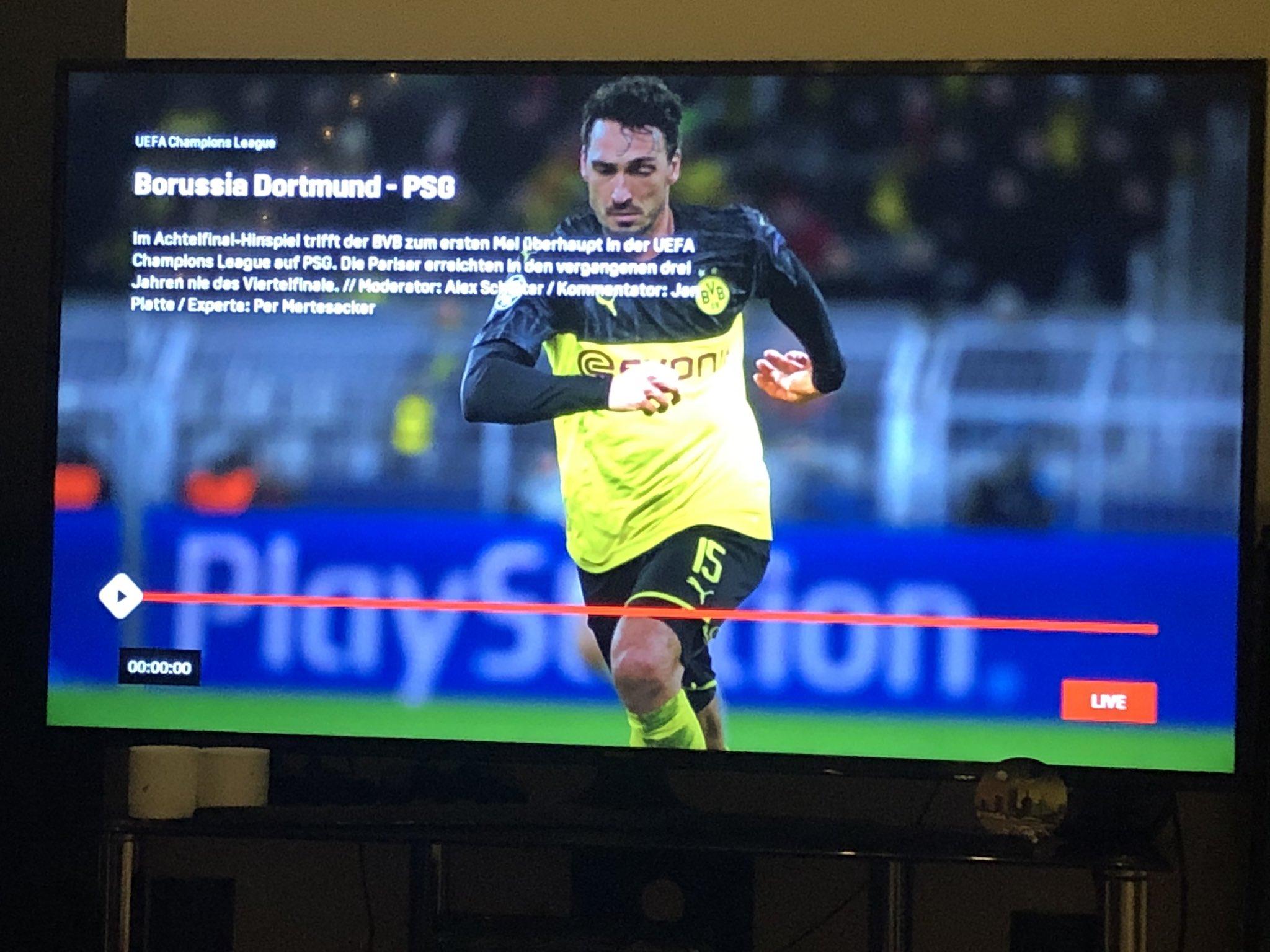 Streaming-Dienst DAZN hatte Probleme mit der Übertragung der CL-Partie BVB gegen PSG.