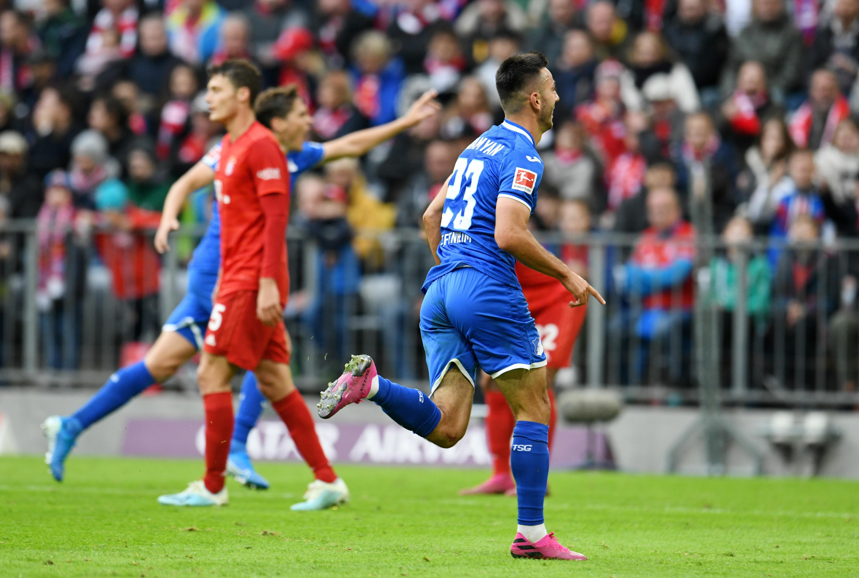 Bei der Hinrunden-Pleite des FC Bayern gegen Hoffenheim erzielte Sargis Adamyan zwei Treffer.