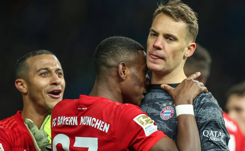Thiago (v. l.), David Alaba und Manuel Neuer.