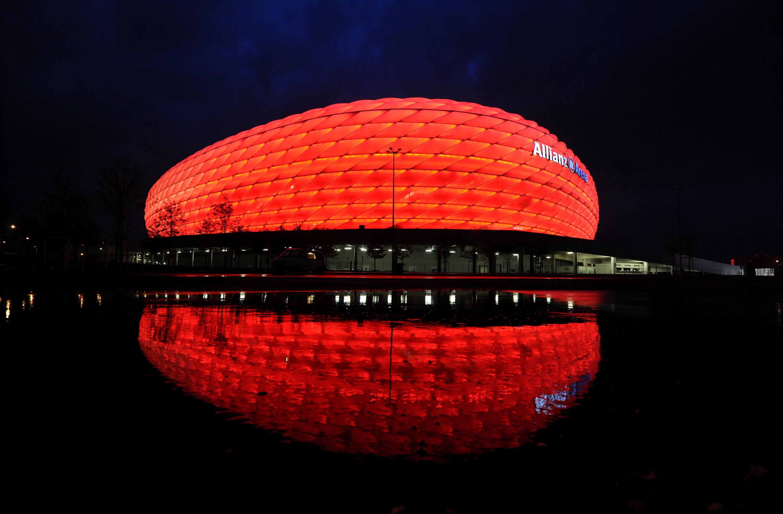 Heimstätte des FC Bayern: Allianz Arena.