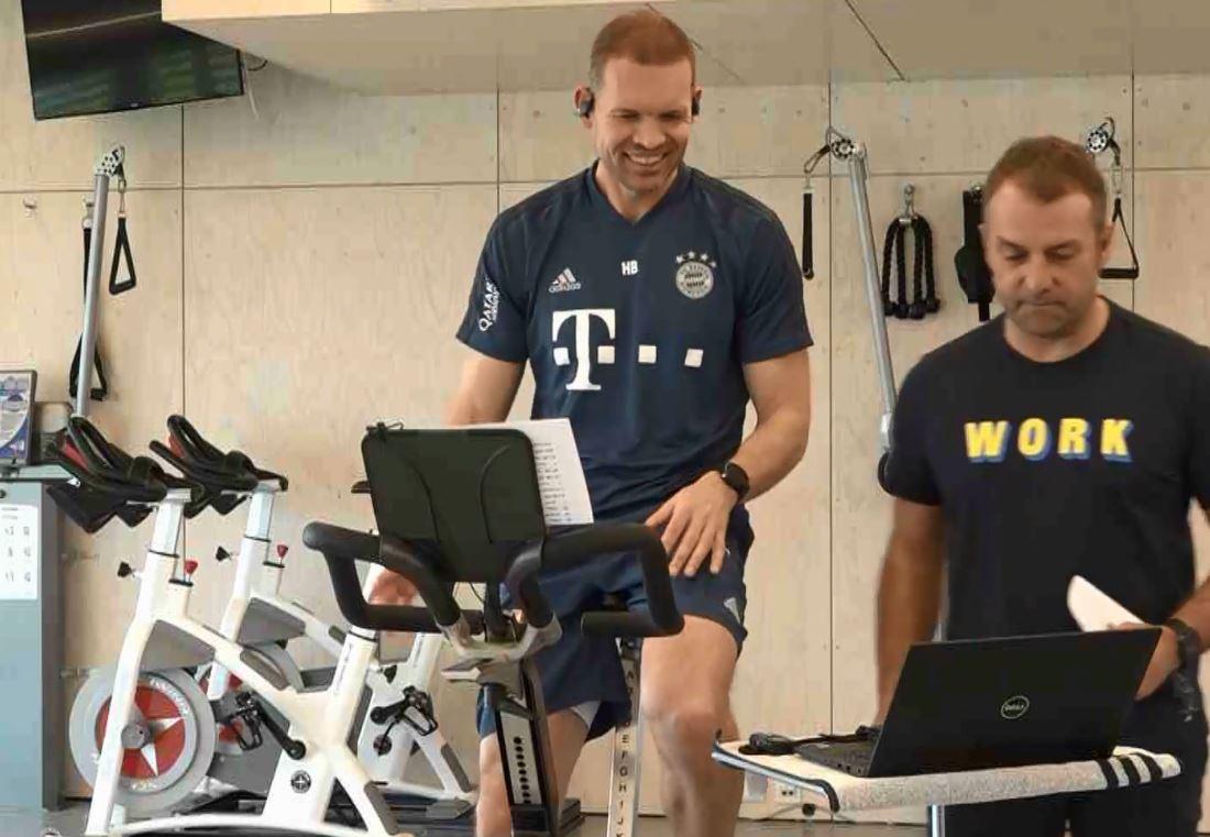 Die Bayern halten sich mit alternativen Programmen fit.