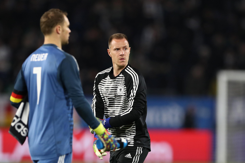 Ähnlich wie Konkurrent Manuel Neuer konnte sich Marc-André ter Stegen mit seinem Arbeitgeber noch nicht auf einen neuen Vertrag einigen.