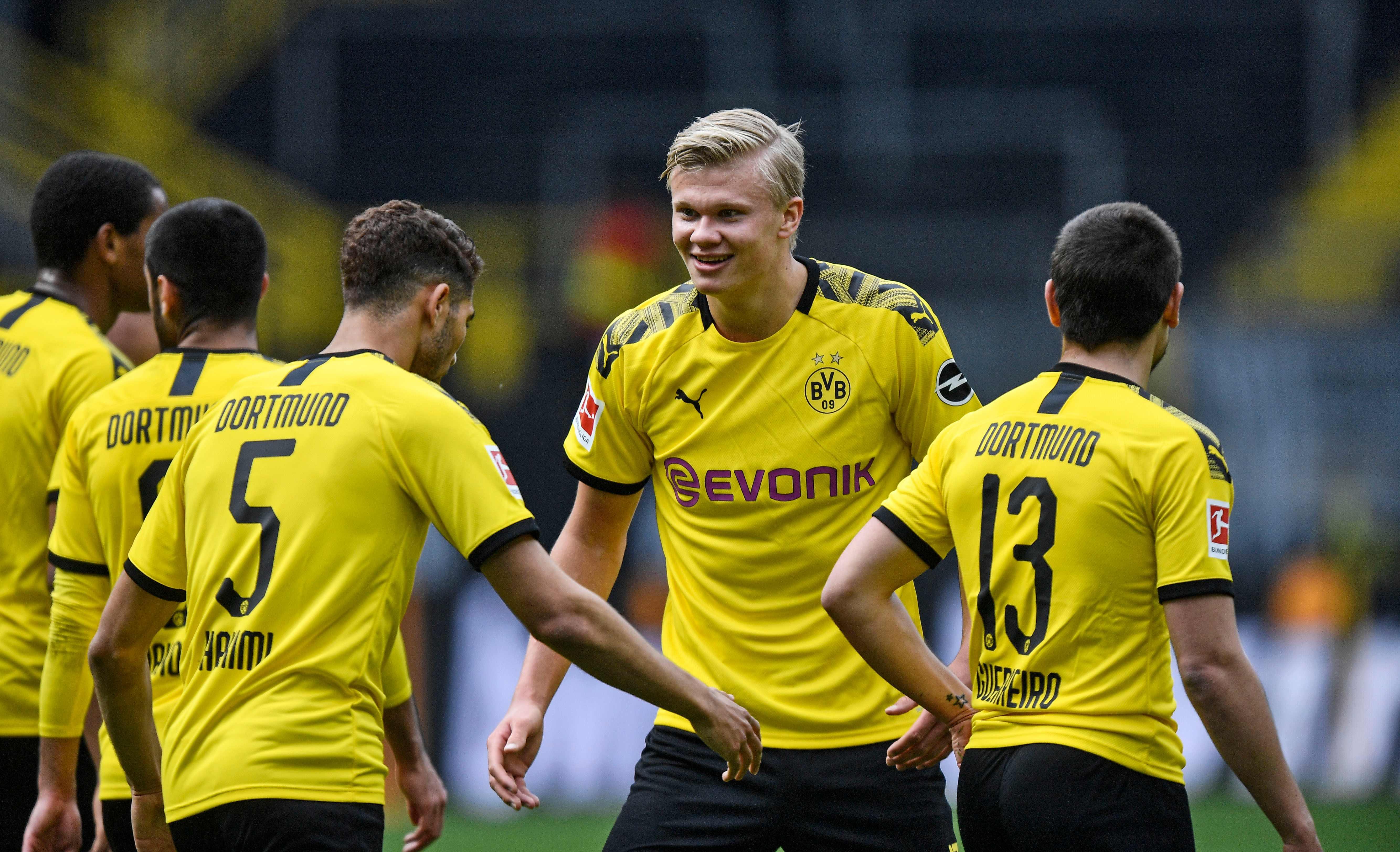 Erling Haaland jubelt für Dortmund - in der zweiten Liga?