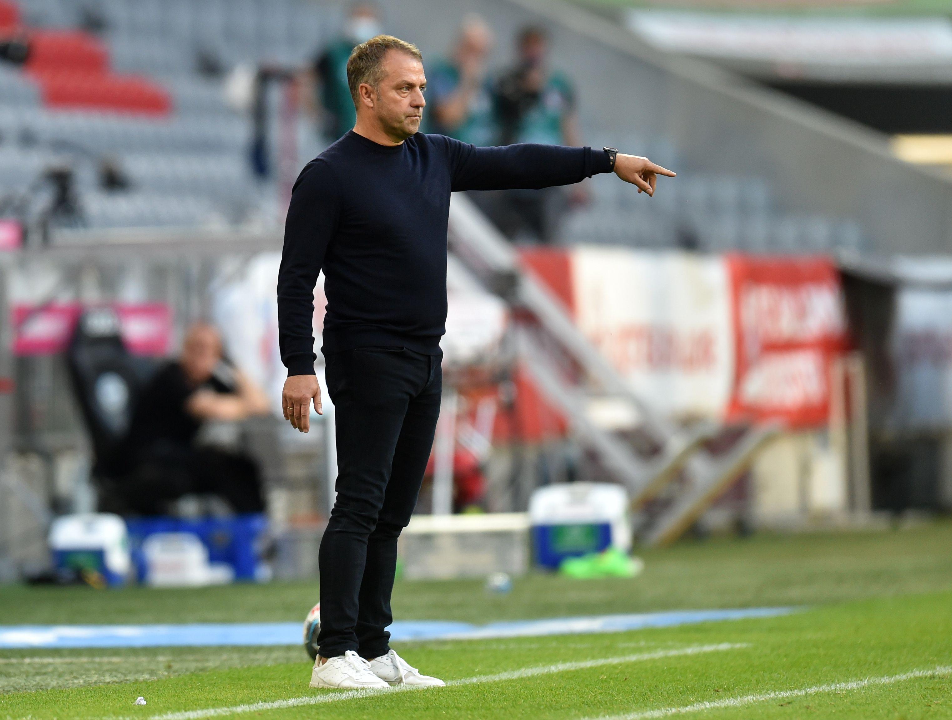 Hansi Flick konnte sich gegen Gladbach über drei Big-Points für den FC Bayern freuen.