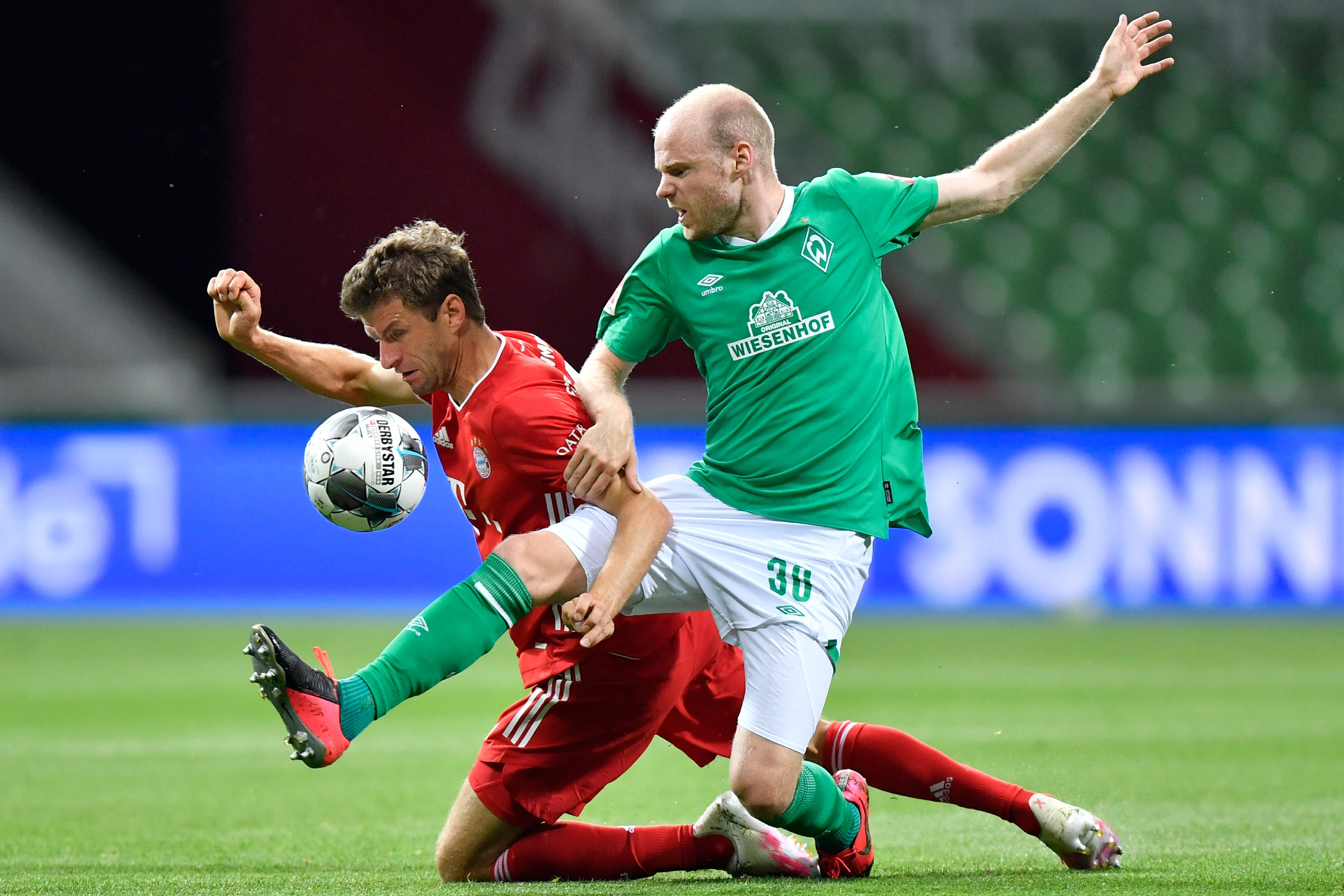 Geht voran: Thomas Müller (li.) für den FC Bayern.