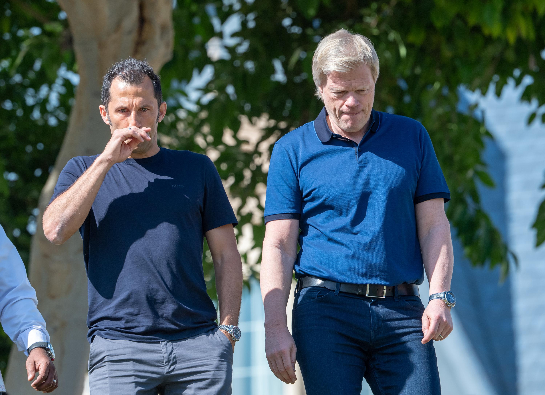Bosse des FC Bayern: Sportdirektor Hasan Salihamidzic (li.) und Oliver Kahn.