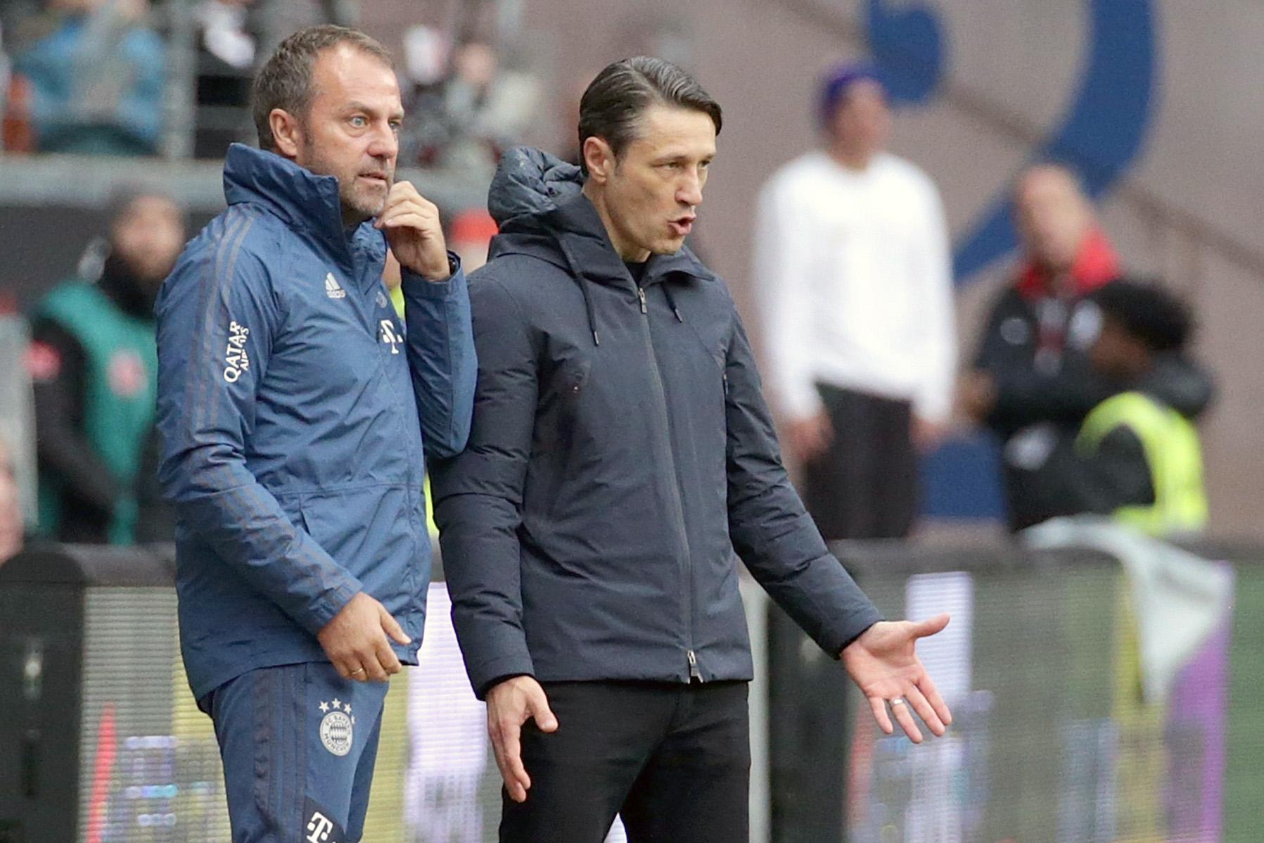 Niko Kovac (r.) und Hansi Flick begannen die Saison beim FC Bayern München zusammen.