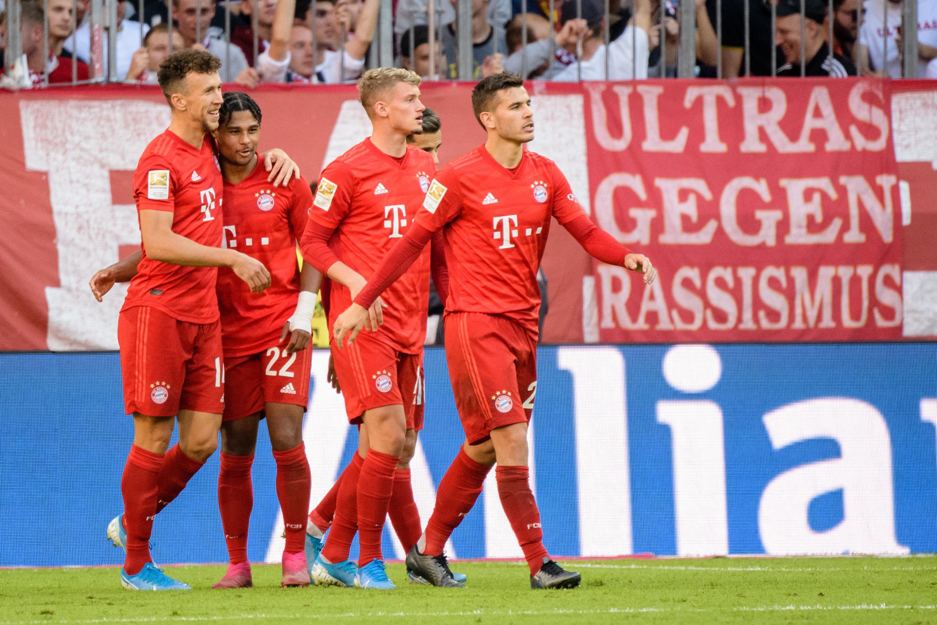 Der Franzose Michael Cuisance (2. v. r.) setzte sich noch nicht entscheidend beim FC Bayern durch.