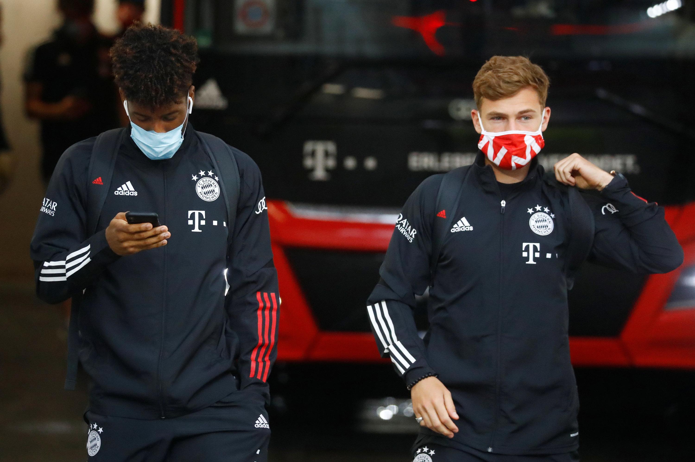 Kingsley Coman (l.) und Josua Kimmich spielten schon unter Pep Guardiola eine wichtige Rolle beim FC Bayern.