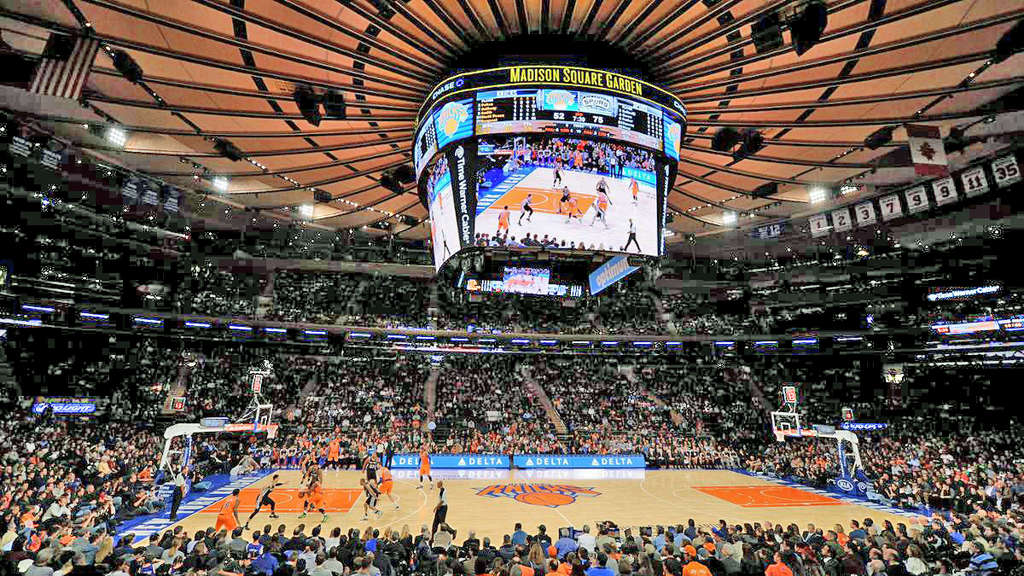 Risiko: Sportstadien in der Coronakrise, wie hier der Madison Square Garden in New York City.