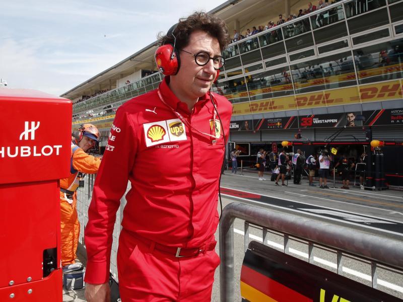 Dämpft die Erwartungen vor dem Saisonstart: Mattia Binotto, der Teamchef von Ferrari. Foto: Luca Bruno/AP/dpa