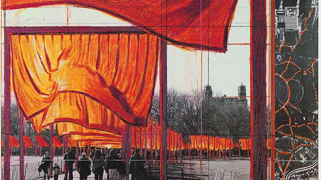 "Im New Yorker Central Park realisierten Christo und Jeanne-Claude das Projekt ""The Gates""."