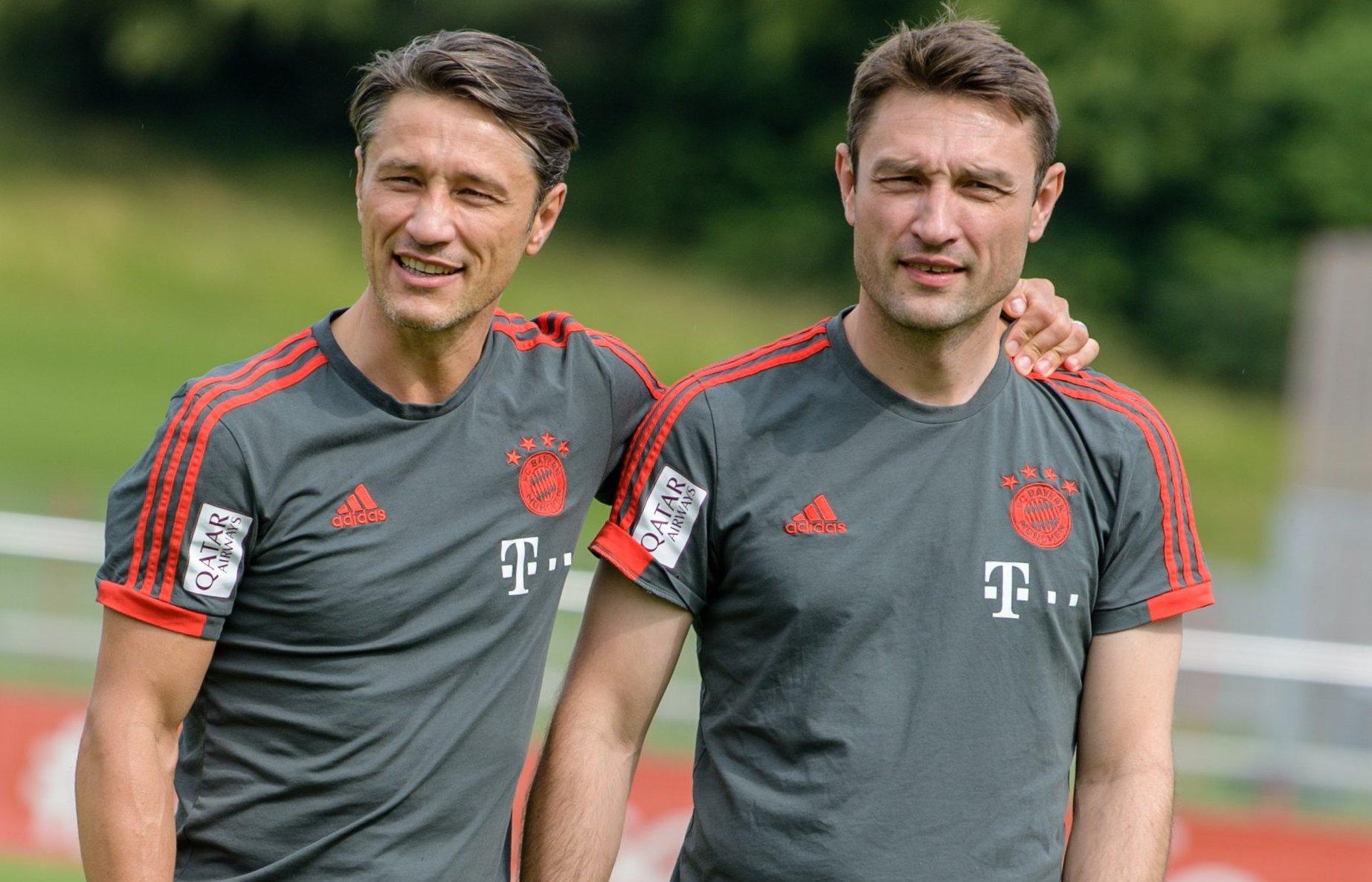 Niko Kovac (l.) vertraut auch in Monaco auf seinen Bruder Robert Kovac als Co-Trainer.