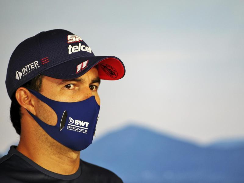 Wurde in Silverstone vorsorglich isoliert: Sergio Perez. Foto: Uncredited/POOL FIA/AP/dpa