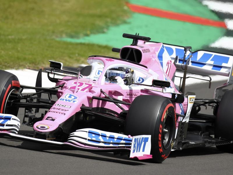Nico Hülkenberg darf erneut ins Racing-Point-Cockpit steigen. Foto: Bryn Lennon/Pool'Getty/ AP/dpa