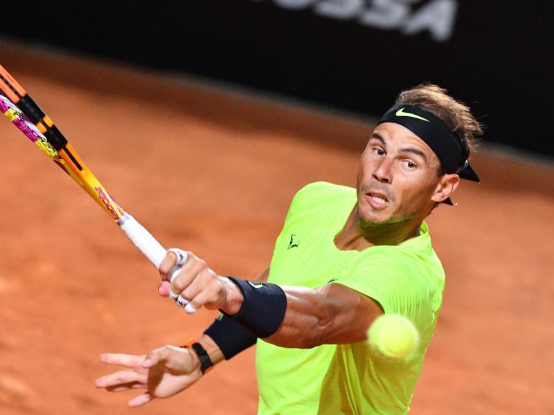 Rafael Nadal setzte sich in seinem Auftaktmatch in Rom locker durch. Foto: Alfredo Falcone/LaPresse via ZUMA Press/dpa