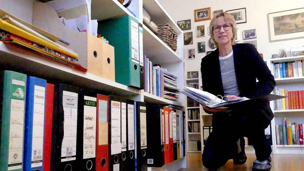 Sabine Sievers hat ihr Büro zum neuen Jahr ausgemistet.