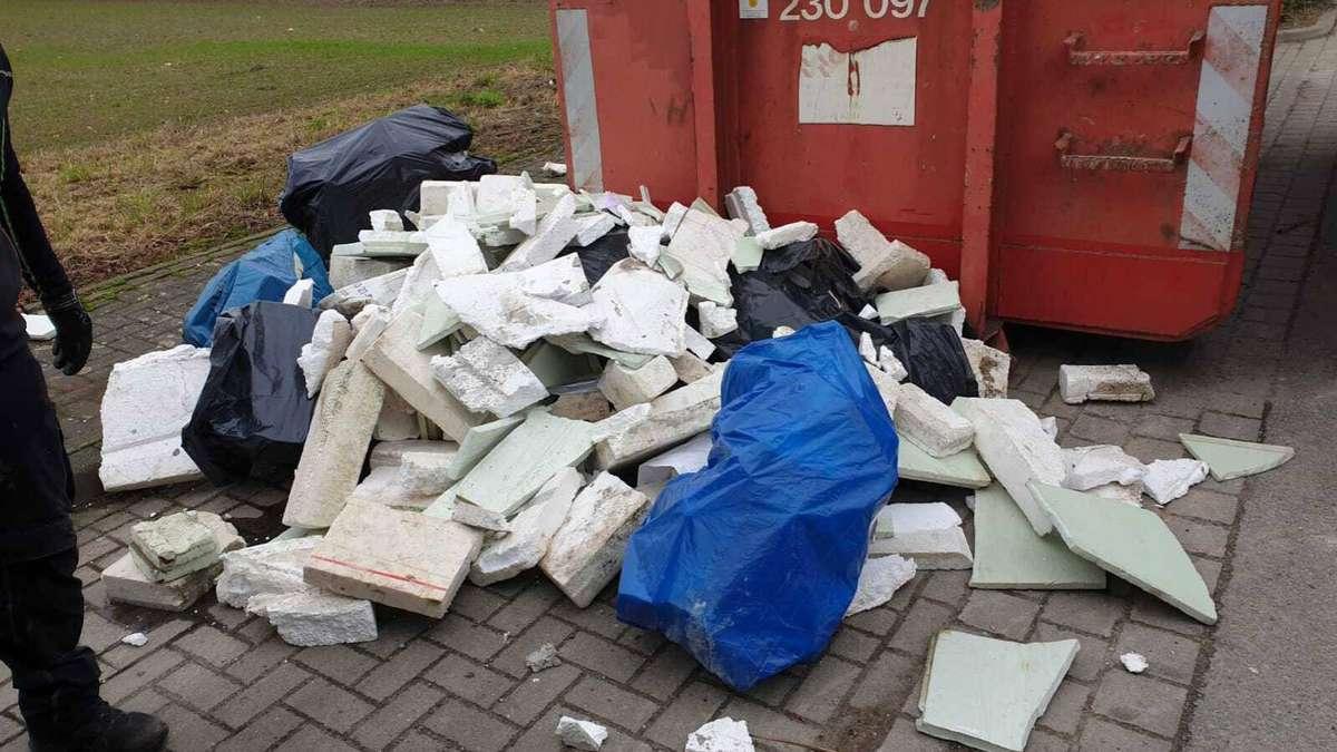 TSV Asendorf findet bergeweise Styropor in seinem Altpapiercontainer