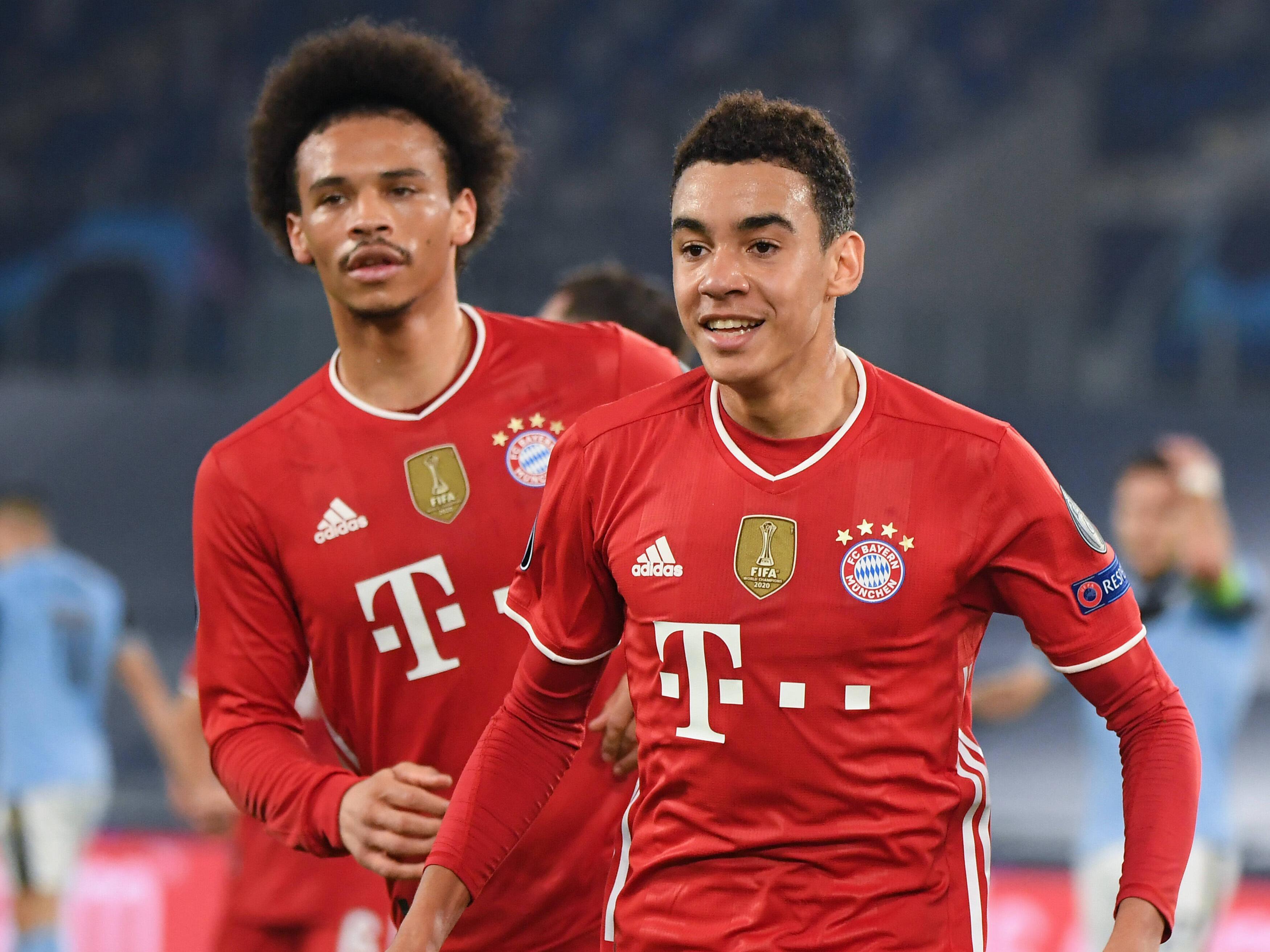 Sein großer Abend: Jamal Musiala (r.) traf für den FC Bayern in Rom.