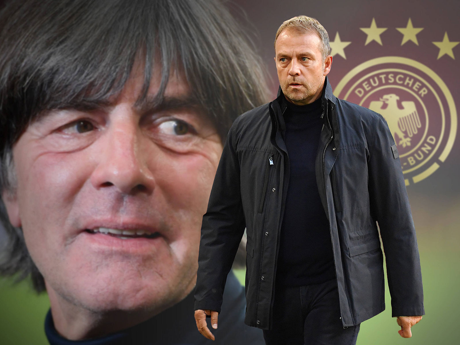 Bald fix? Hansi Flick (r.) dürfte in wenigen Tagen als neuer Bundestrainer präsentiert werden.