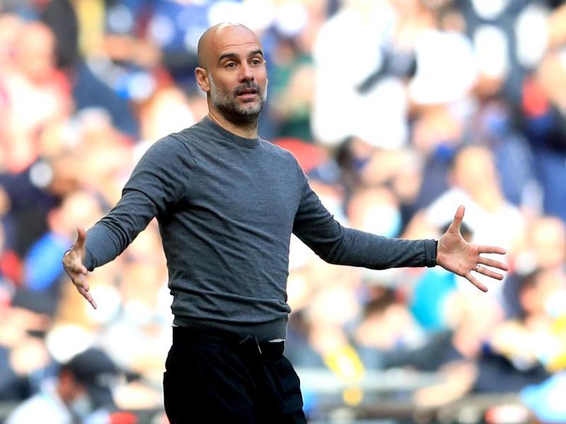 Cheftrainer Pep Guardiola ist mit Manchester City englischer Meister geworden.