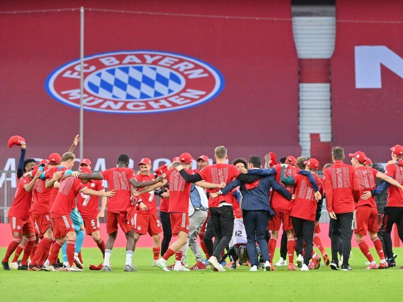 Auch die Meisterschaft 2021 musste der FC Bayern vor leeren Zuschauerrängen feiern.