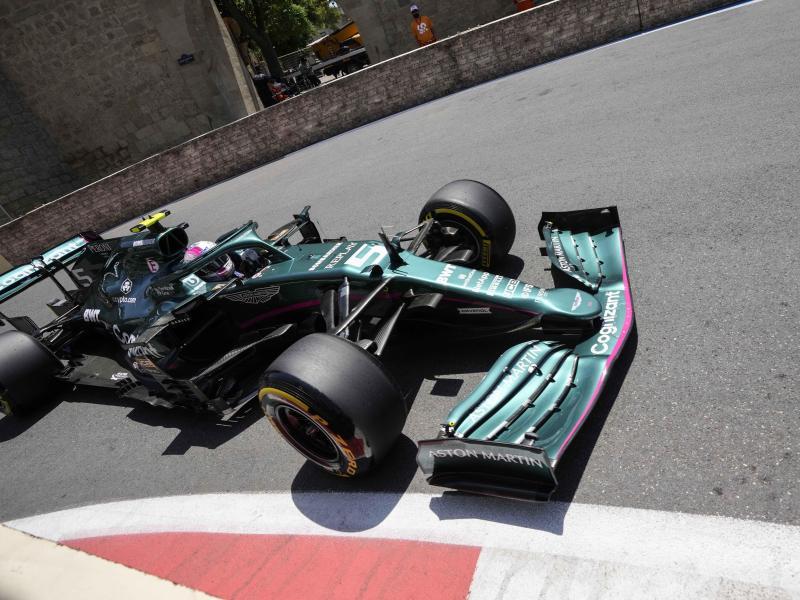 Kommt in seinem Aston Martin immer besser in Fahrt: Sebastian Vettel.