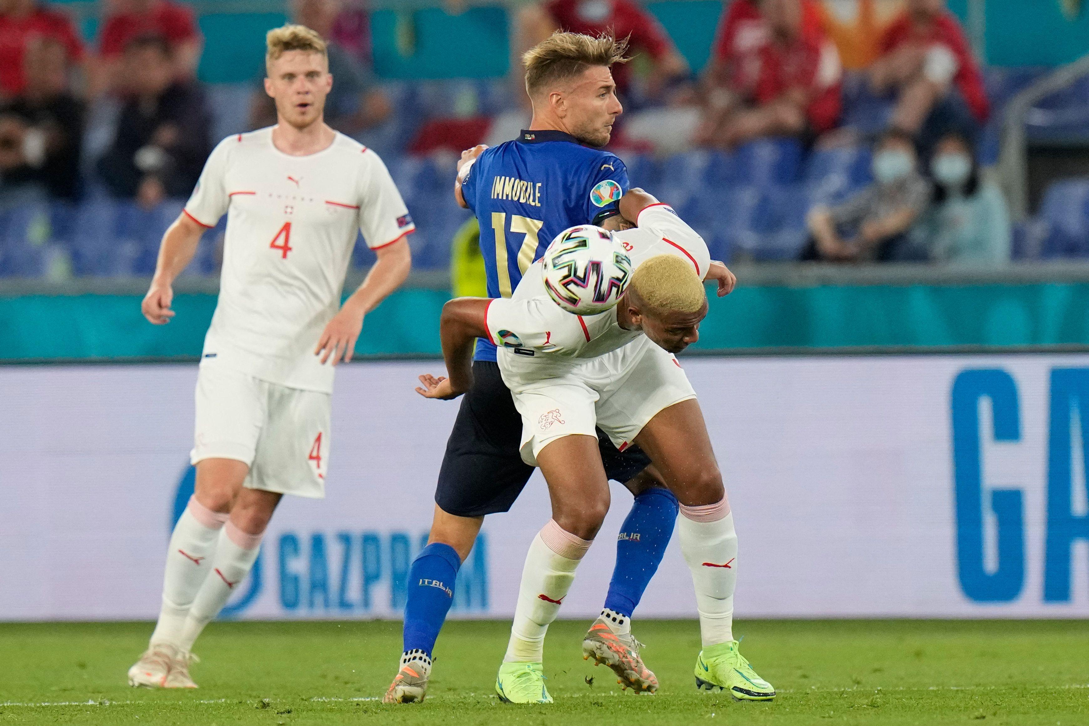 Italien gegen die Schweiz.