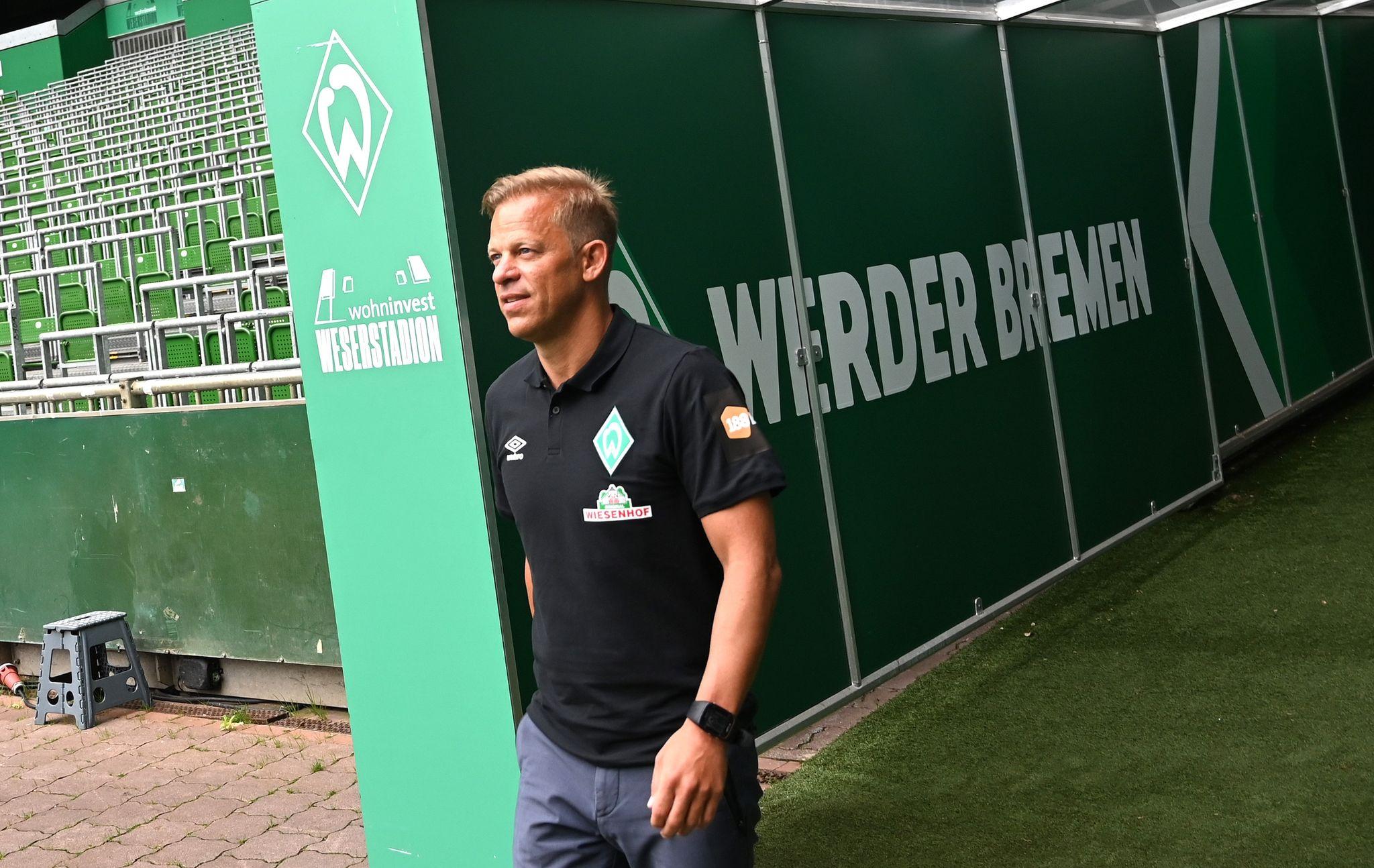 """""""Wir dürfen das Ziel Wiederaufstieg nicht nach vorne stellen"""", sagt der neue Werder-Trainer Markus Anfang."""