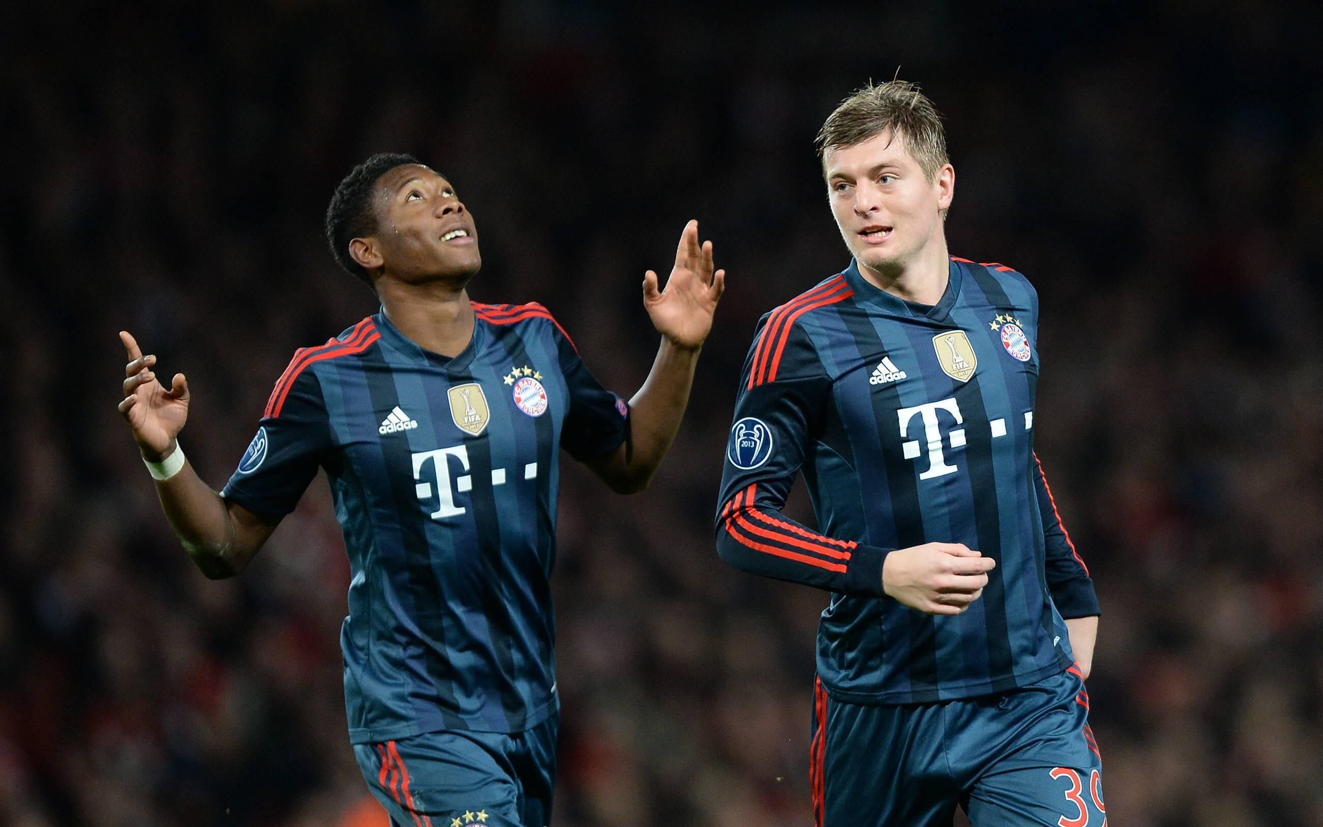 David Alaba und Toni Kroos spielten vier Jahre lang gemeinsam beim FC Bayern.