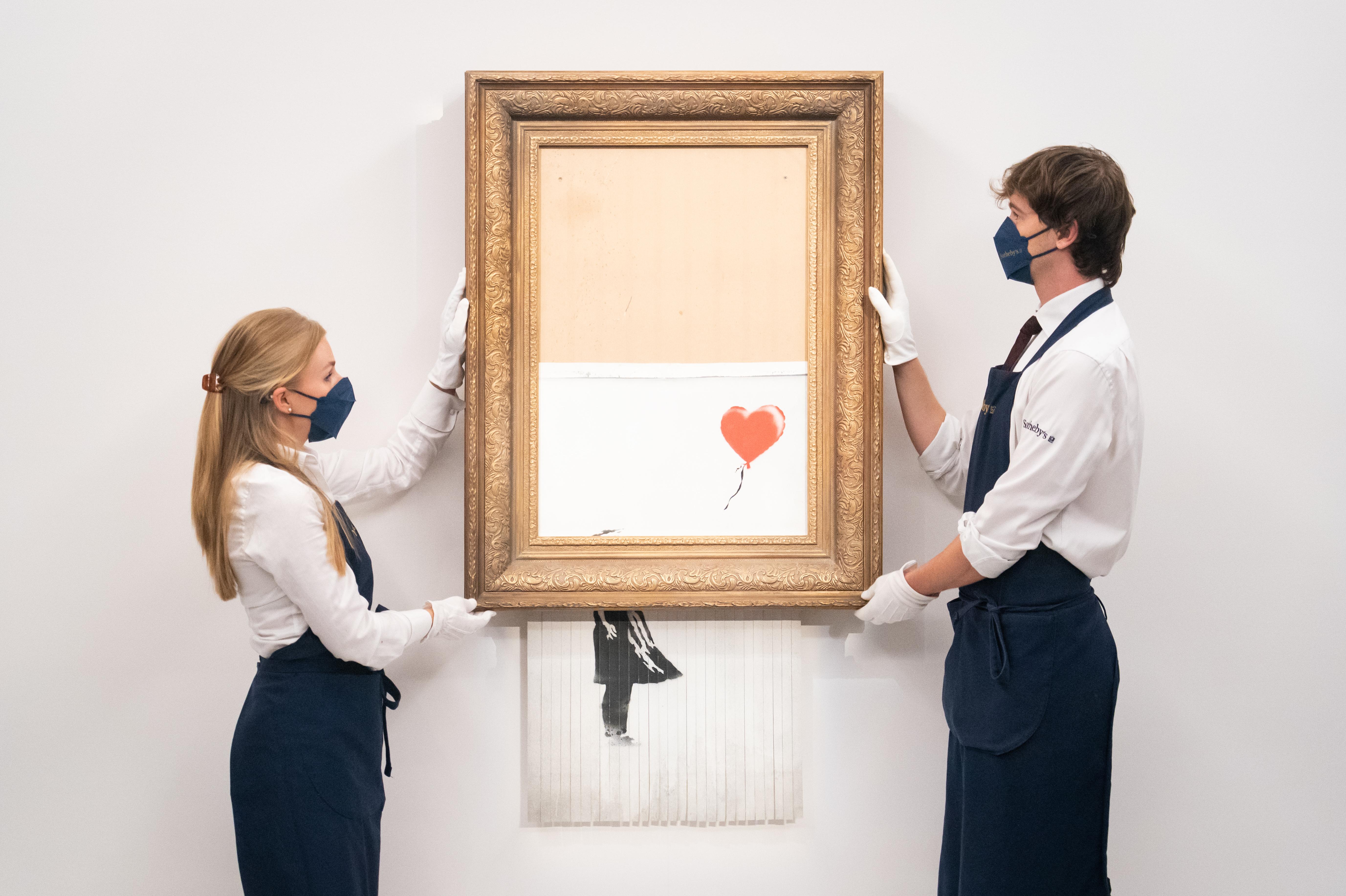 Banksy: Schredder-Werk für 18,89 Millionen Euro versteigert